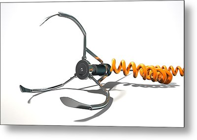 Claw Game Mechanism Metal Print by Allan Swart