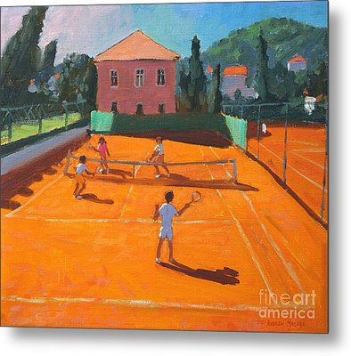 Clay Court Tennis Metal Print by Andrew Macara