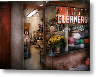 Cleaner - Ny - Chelsea - The Cleaners Metal Print by Mike Savad