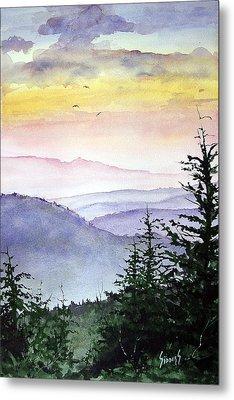 Clear Mountain Morning II Metal Print by Sam Sidders