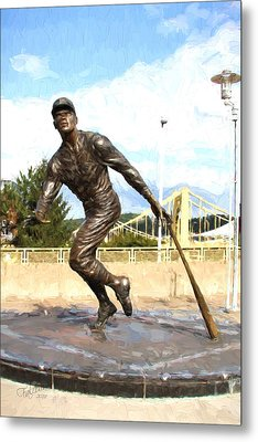 Pnc Clemente Statue Oil Painting Look Metal Print by Stephen Falavolito