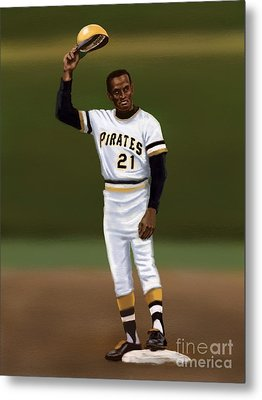 Clemente's 3000th Hit Metal Print by Jeremy Nash