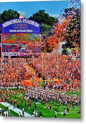Clemson Tigers Memorial Stadium Metal Print by Jeff McJunkin