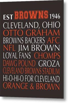 Cleveland Browns Metal Print by Jaime Friedman