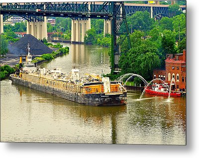 Cleveland Fire Department Metal Print by Frozen in Time Fine Art Photography