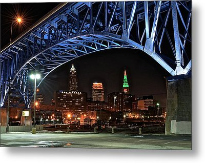 Cleveland Framed In Color Metal Print by Frozen in Time Fine Art Photography