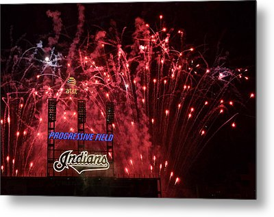 Cleveland Indians Metal Print by Frozen in Time Fine Art Photography