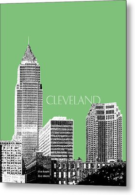 Cleveland Skyline 2 - Apple Metal Print by DB Artist