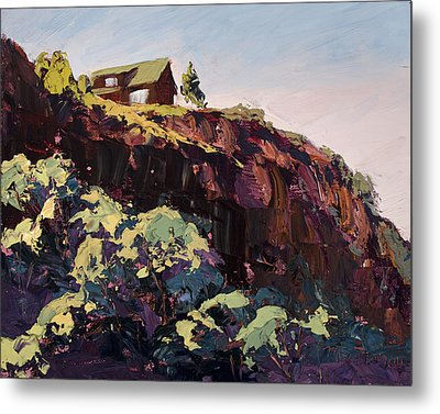 Cliff Hanger Metal Print by Mary Giacomini