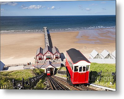 Cliff Railway Saltburn By The Sea Metal Print by Colin and Linda McKie