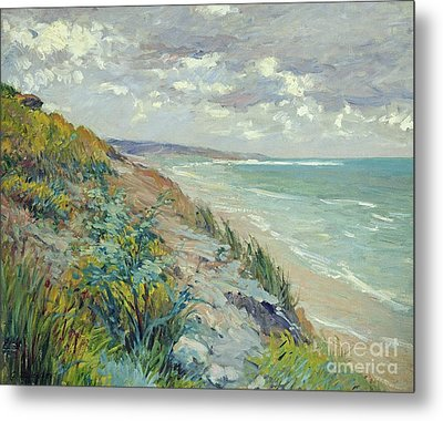 Cliffs By The Sea At Trouville  Metal Print by Gustave Caillebotte
