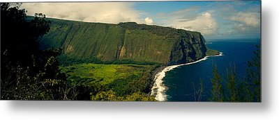 Cliffs In The Sea, Waipio Valley, Big Metal Print by Panoramic Images