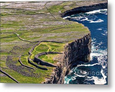 Cliffs Of Inishmoore Metal Print by Juergen Klust