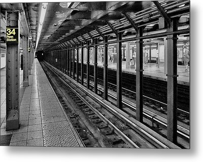 Clinging To A Train Of Thought Metal Print by Tony Ambrosio
