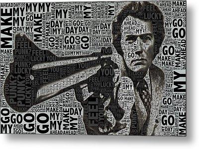 Clint Eastwood Dirty Harry Metal Print by Tony Rubino
