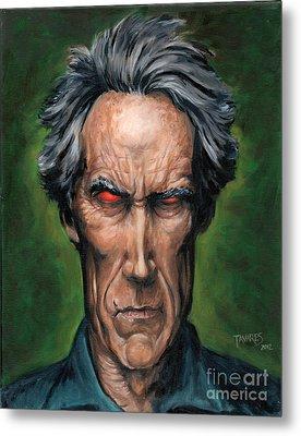 Clint Eastwood Metal Print by Mark Tavares