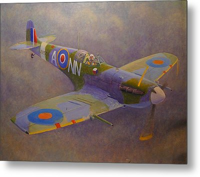 Clip Wing Spitfire Metal Print by Terry Perham