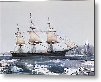 Clipper Ship Red Jacket In The Ice Off Cape Horn On Her Passage From Australia To Liverpool Metal Print by American School