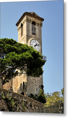 Clock Tower - Cannes - France Metal Print by Christine Till