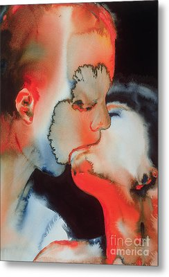 Close Up Kiss Metal Print by Graham Dean