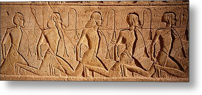 Close-up Of Carvings On A Wall, Great Metal Print by Panoramic Images