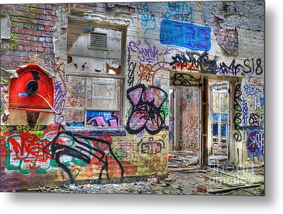 Closed For Business Metal Print by David Birchall
