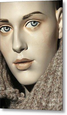 Closeup On Mannequin's Face Metal Print by Sophie Vigneault