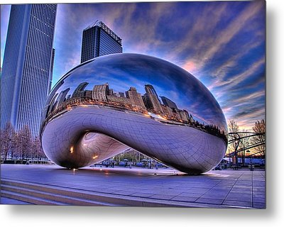 Cloud Gate Metal Print by Jeff Lewis