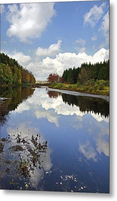 Autumn Lake Reflection Landscape Metal Print by Christina Rollo