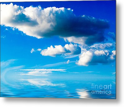 Clouds And Sea Metal Print by Boon Mee