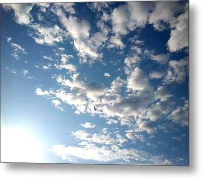 Clouds Metal Print by Lucy D