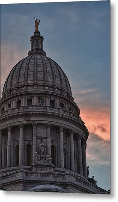 Clouds Over Democracy Metal Print by Sebastian Musial