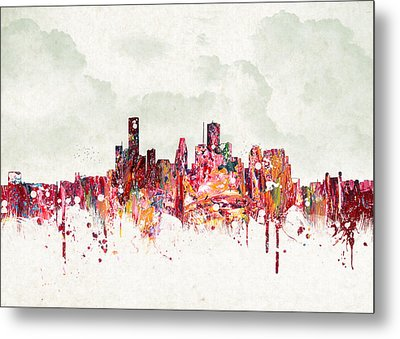 Clouds Over Houston Texas Usa Metal Print by Aged Pixel