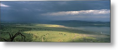 Clouds Over Mountains, Lake Nakuru Metal Print by Panoramic Images