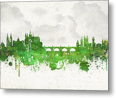Clouds Over Prague Czech Republic Metal Print by Aged Pixel