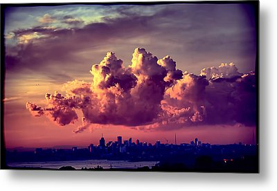 Clouds Rolling Metal Print by Andrei SKY