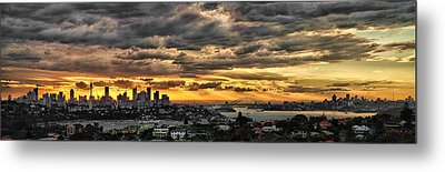 Clouds Rose Over The City Metal Print by Andrei SKY