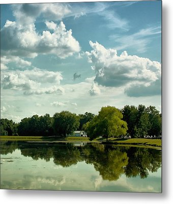 Cloudy Reflections Metal Print by Kim Hojnacki
