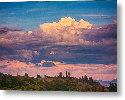 Cloudy Sunset Metal Print by Omaste Witkowski
