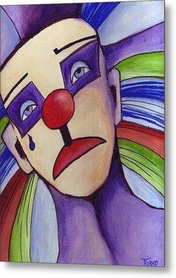 Clown Nez Rouge Metal Print by Mirko Gallery