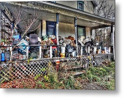 Clutter House Porch  Metal Print by Dan Friend