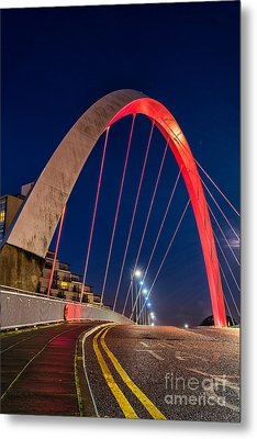 Clyde Arc Glasgow  Metal Print by John Farnan
