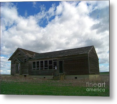 Clyde Schoolhouse Metal Print by Charles Robinson
