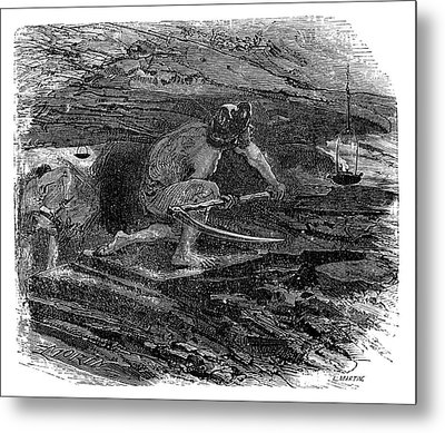 Coal Miner Metal Print by Science Photo Library