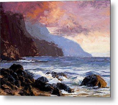 Coastal Cliffs Beckoning Metal Print by Mary Giacomini