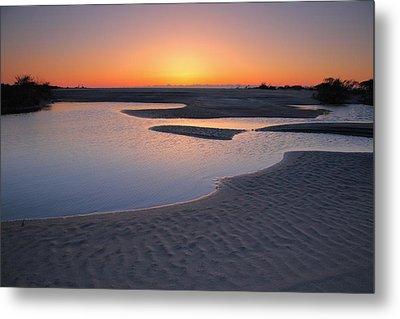 Coastal Ponds At Sunrise II Metal Print by Steven Ainsworth