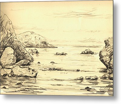 Coastal Scene Cuerno Metal Print by Juan  Bosco