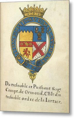 Coat Of Arms Of Thomas Butler Metal Print by British Library