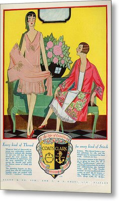 Coats And Clark  1920s Uk Art Deco Metal Print by The Advertising Archives