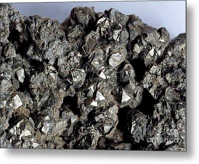 Cobaltine Mineral Metal Print by Spl